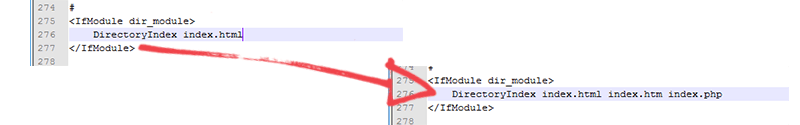 Instalando o Apache: DirectoryIndex
