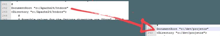 Instalando o Apache: DocumentRoot