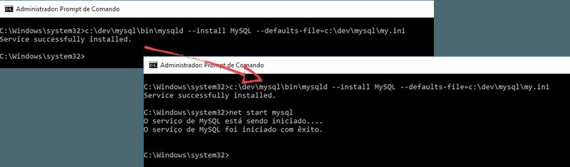 Instalando o MySQL: Instalando o Serviço
