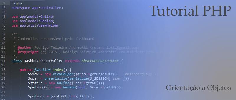 Tutorial - Orientação a Objetos PHP
