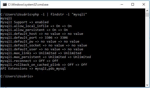 Instalando o PHP: Verificando Extensões