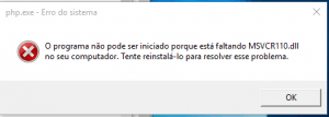 Instalando o PHP: Erro VC
