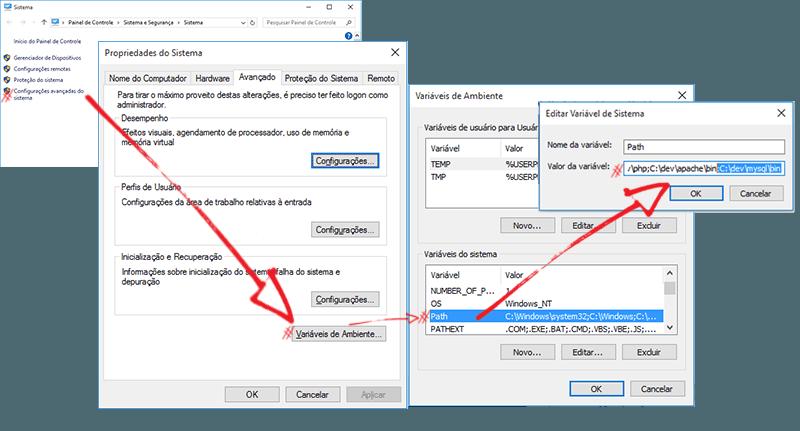 Instalando o MySQL: Variável PATH
