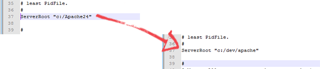 Instalando o Apache: ServerRoot