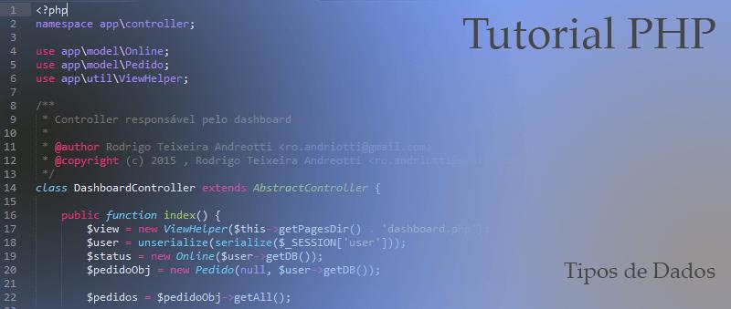 Tutorial PHP: Tipos de Dados